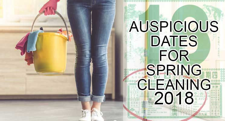 Auspicious Dates For Spring Cleaning 2018