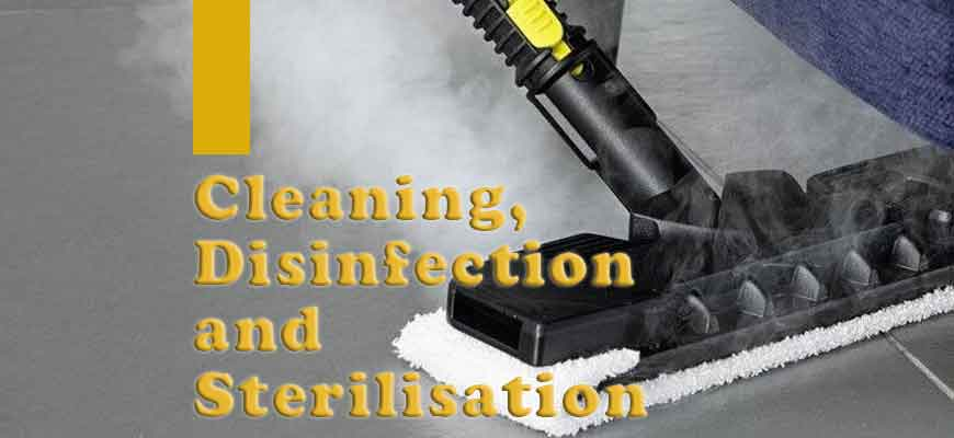 Difference Between Cleaning, Disinfection and Sterilisation