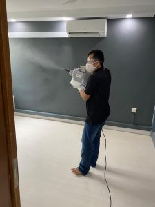 disinfecting house